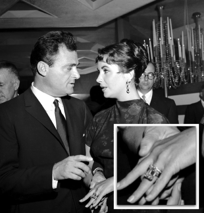 Mike Todd proposed to Elizabeth Taylor with a 29.4 carat Emerald cut diamond in 1957.