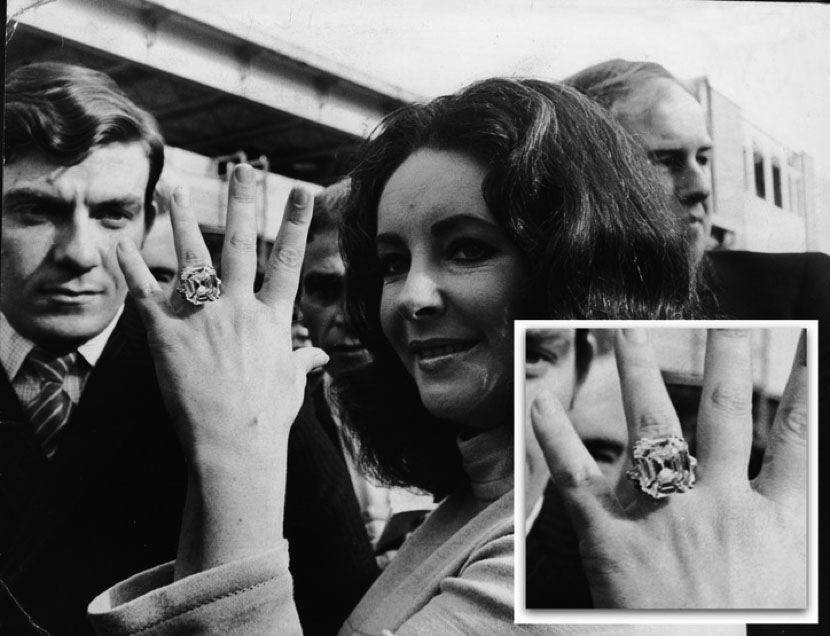Richard Burton gifted Elizabeth Taylor the famous 33.19carat Krupp Asscher cut diamond.