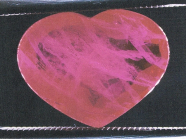 A Mong Hsu / Myanmar ruby heat treated under the presence of flux